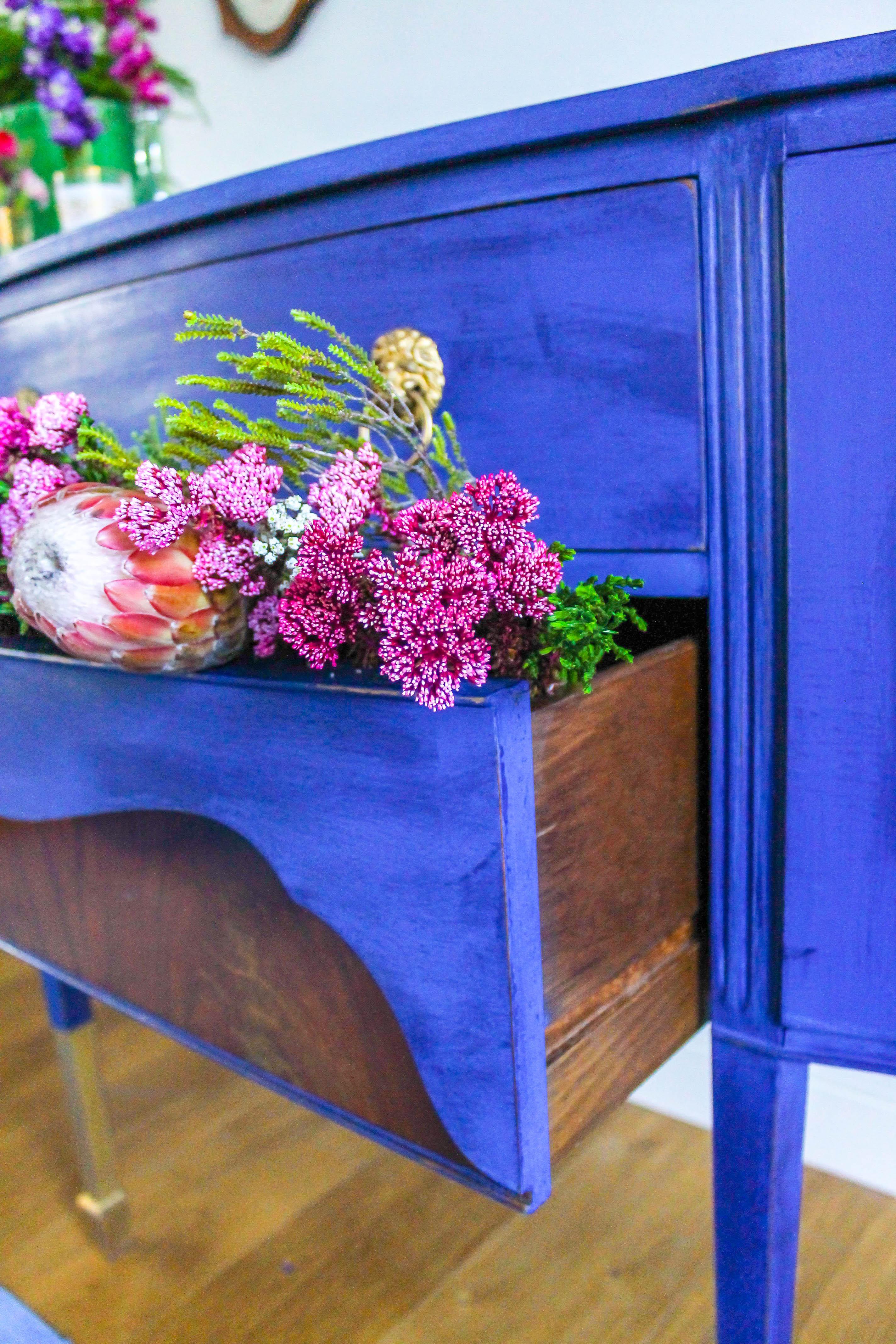 Twice In A Blue Moon Regency Style Sideboard Blueberry
