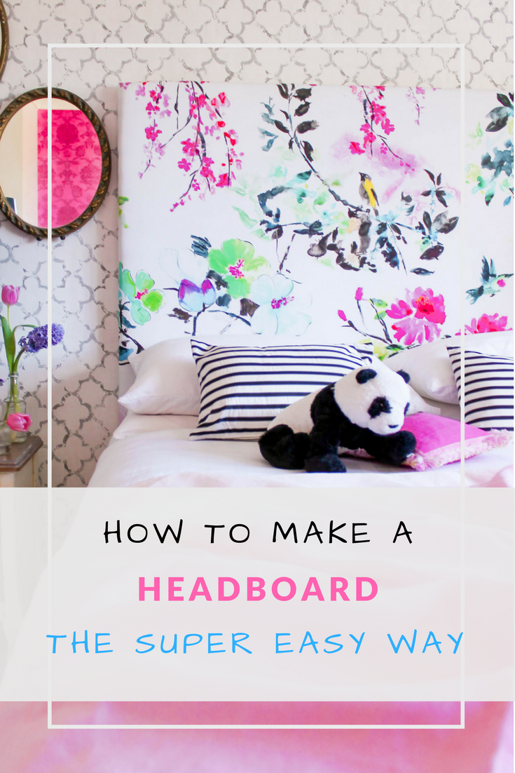 How to make an upholstered headboard tutorial. So easy!!!