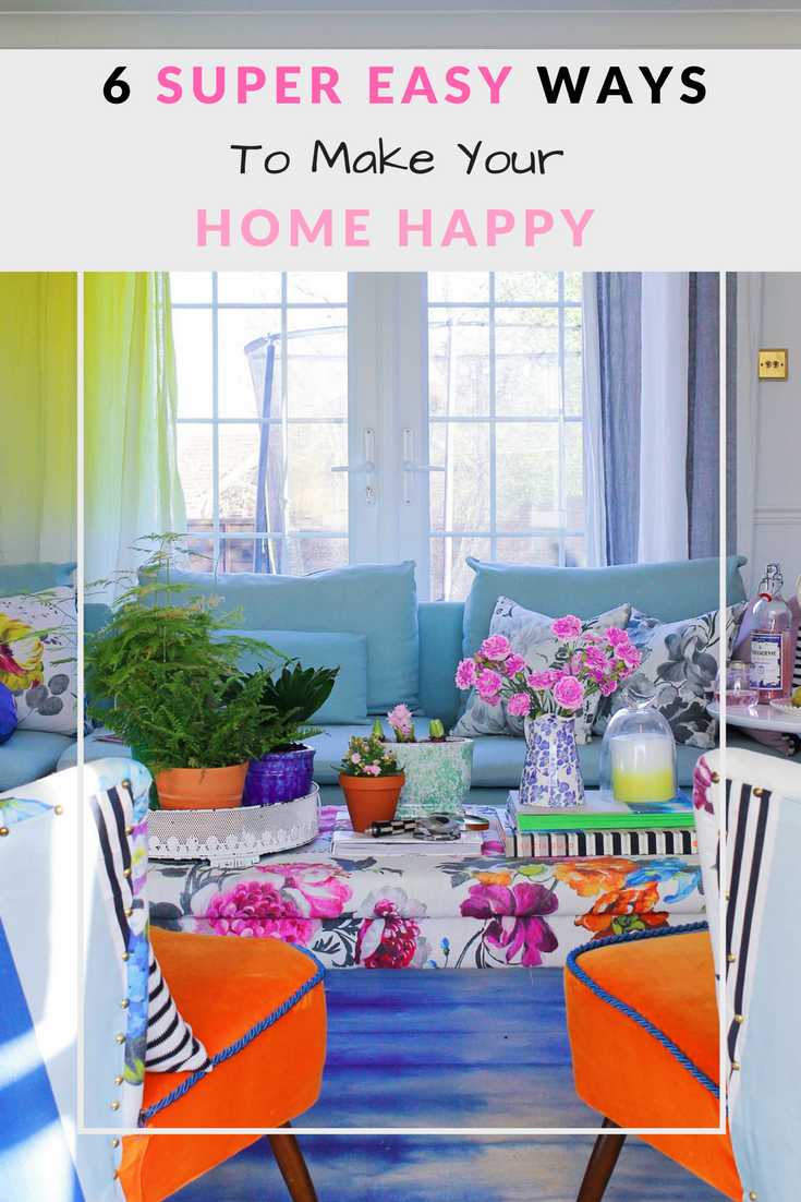Imagine how heavenly would be to open your front door and being greeted by your favourite colours and a collection of things your love… a home so happy and gorgeous that would make you pop! Follow these super easy ways to make your home a happier place!