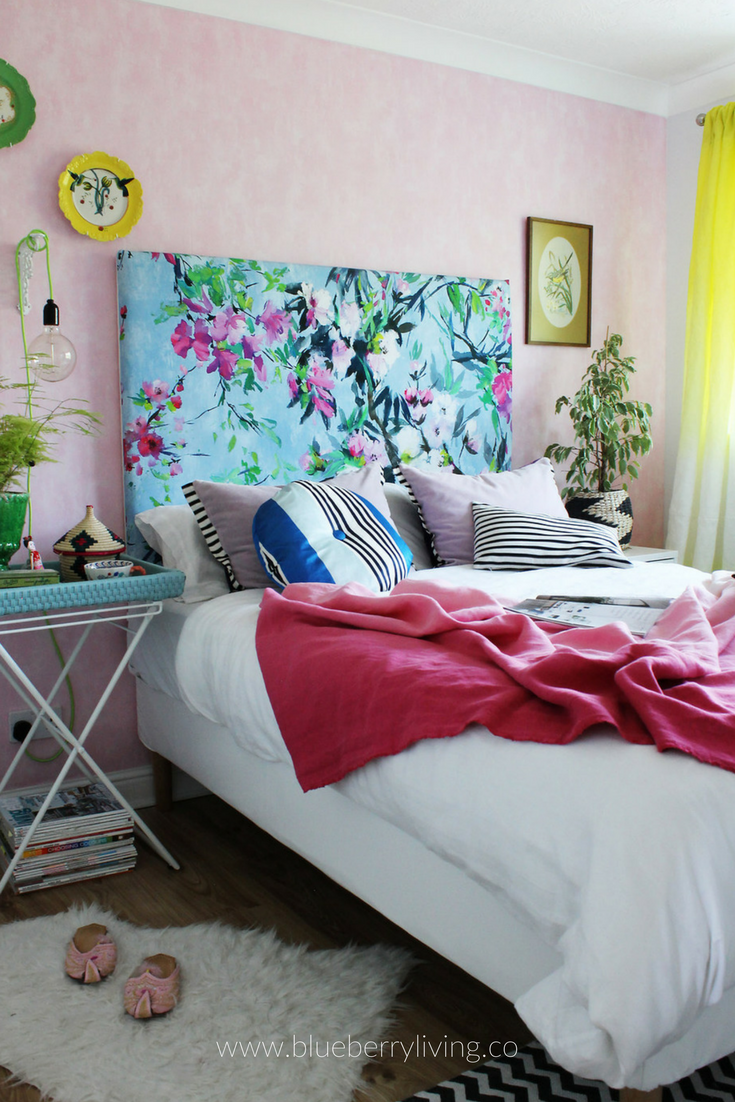 Do you know that happy feeling of going for a walk in the park during a perfect summer day, while having your fave ice cream? That's exactly what I was going for when I start designing our guest bedroom!