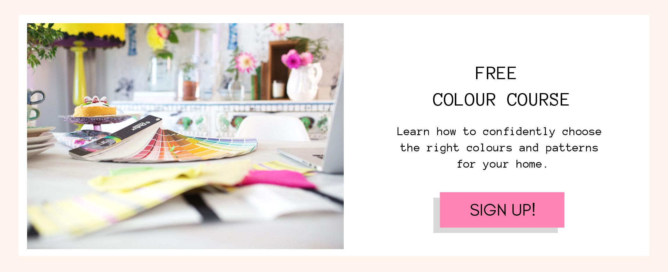Free colour course for home decorating.